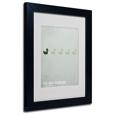 Trademark Fine Art Christian Jackson 'The Ugly Duckling' Matted Art Black Frame 11x14 Inches