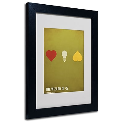 Trademark Fine Art Christian Jackson 'Wizard of Oz' Matted Art Black Frame 11x14 Inches