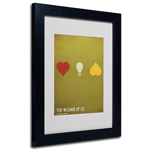 Trademark Fine Art Christian Jackson 'Wizard of Oz' Matted Art Black Frame 11x14 Inches