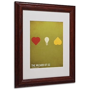 Christian Jackson 'Wizard of Oz' Matted Framed Art - 11x14 Inches - Wood Frame