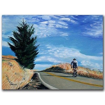 Trademark Fine Art Biker Ascenting by Colleen Proppe-Ready to Hang