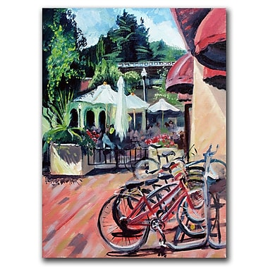 Trademark Fine Art Bikes in Town by Colleen Proppe Canvas Ready to Hang