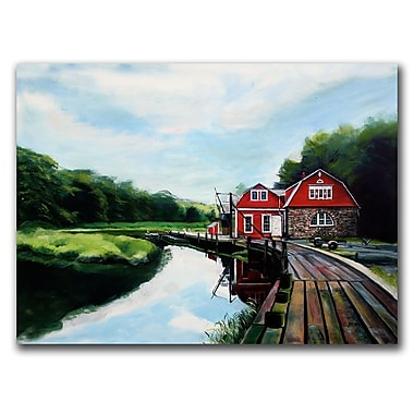 Trademark Fine Art The Boathouse by Colleen Proppe Canvas Ready to Hang 18x24 Inches