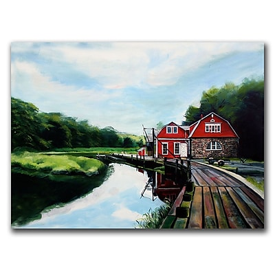 Trademark Fine Art The Boathouse by Colleen Proppe Canvas Ready to Hang 24x32 Inches
