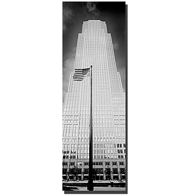 Trademark Fine Art Cleveland by Preston-Ready to Hang Art 16x48 Inches