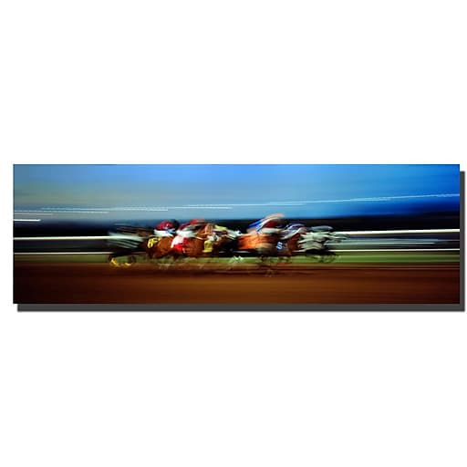 Trademark Fine Art Preston, 'Finish Line' Canvas Art 16x48 Inches