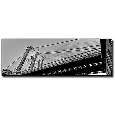 Trademark Fine Art Preston 'Brooklyn Bridge' Canvas Art 8x24 Inches