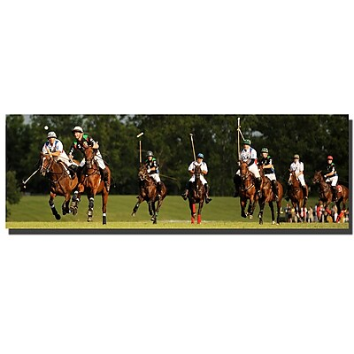 Trademark Fine Art Preston 'USA Polo' Canvas Art 10x32 Inches