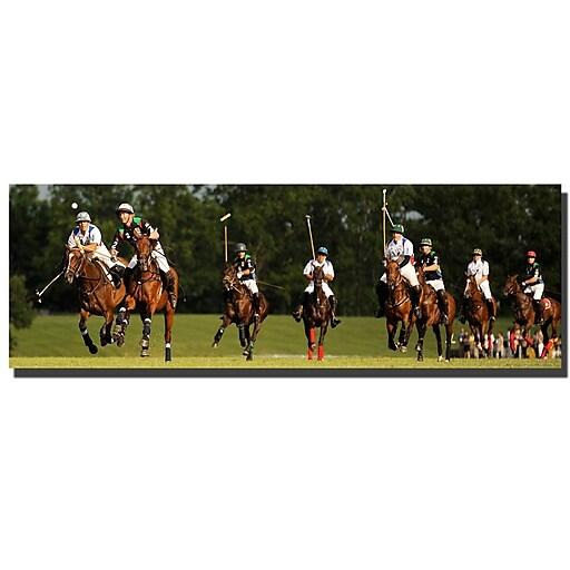 Trademark Fine Art USA Polo by Preston-Ready to Hang Art 8x24 Inches