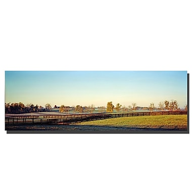 Trademark Fine Art Kentucky Landscape by Preston-Ready to Hang Art 8x24 Inches