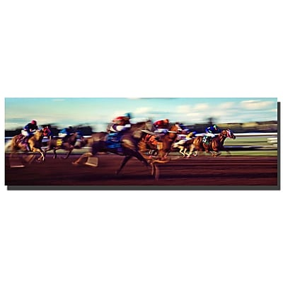 Trademark Fine Art The Race by Preston-Ready to Hang Art 8x24 Inches