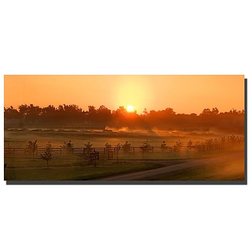Trademark Fine Art Kentucky Sunrise 2 by Preston-Ready to Hang Art 16x47 Inches