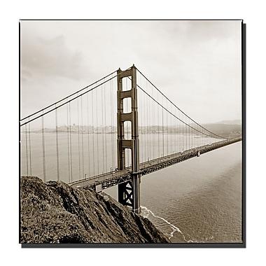 Trademark Fine Art Preston 'Golden Gate Bridge' Canvas Art 14x14 Inches