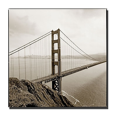 Trademark Fine Art Golden Gate by Preston-Ready to Hang Art 24x24 Inches