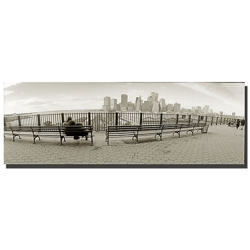 Trademark Fine Art New York Bench by Preston-Ready to Hang Art 16x47 Inches