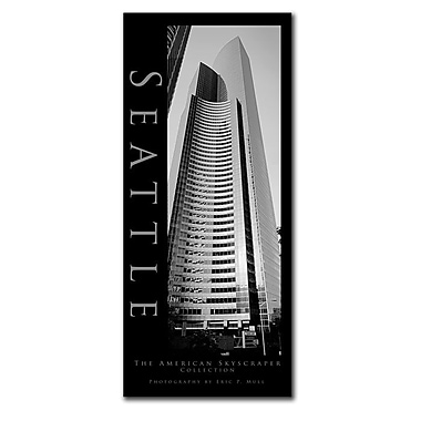 Trademark Fine Art Seattle by Preston-Ready to Hang Art 14x32 Inches