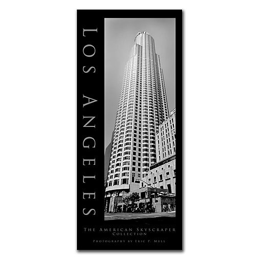 Trademark Fine Art Los Angeles by Preston-Ready to Hang Art 14x32 Inches