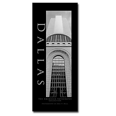 Trademark Fine Art Dallas by Preston-Ready to Hang Art 10x24 Inches
