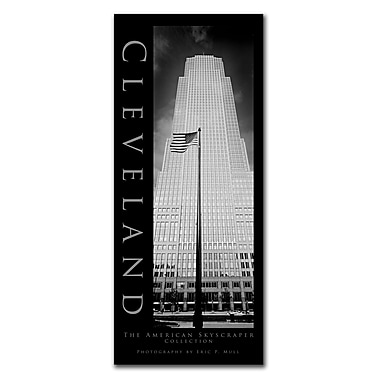 Trademark Fine Art Cleveland by Preston-Ready to Hang Art 10x24 Inches