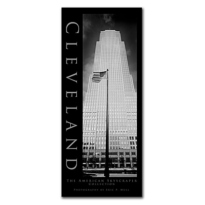 Trademark Fine Art Cleveland by Preston-Ready to Hang Art 14x32 Inches