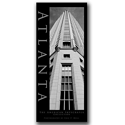 Trademark Fine Art Atlanta by Preston-Ready to Hang Art 14x32 Inches