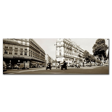 Trademark Fine Art Parisian Intersection byPreston-Canvas Art 12x32 Inches