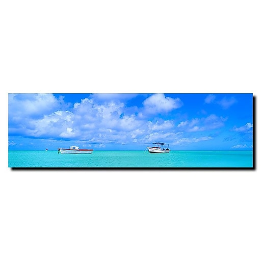 Trademark Fine Art Aru-Boat by Preston-Ready to Hang Art 12x36 Inches
