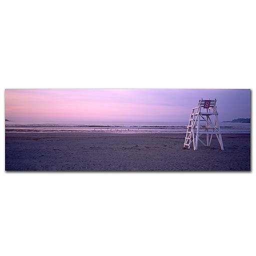 Trademark Fine Art Beach Chair by Preston-Ready to Hang Art 10x32 Inches
