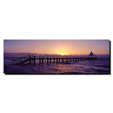 Trademark Fine Art Seascape by Preston-Ready to Hang Art 10x32 Inches