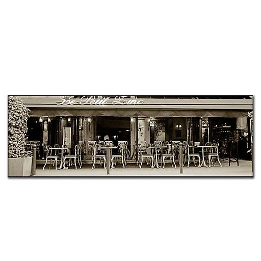 Trademark Fine Art Petit Zinc by Preston-Gallery Wrapped Canvas Art 16x47 Inches