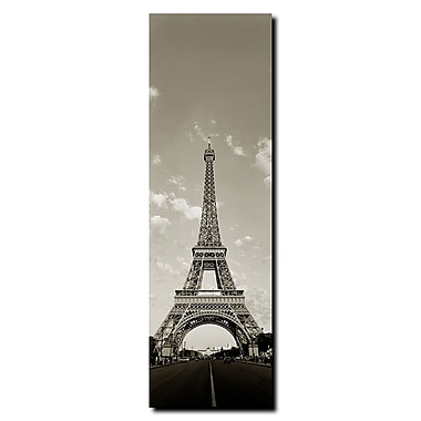 Trademark Fine Art Tour de Eifel by Preston-Gallery Wrapped Canvas Art 8x24 Inches