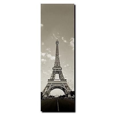 Trademark Fine Art Tour de Eifel by Preston-Gallery Wrapped Canvas Art 8x24 Inches