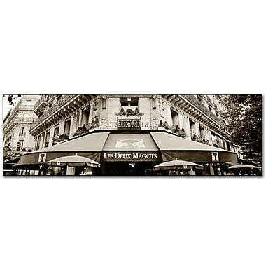 Trademark Fine Art Le Deux Magots by Preston-Ready to Hang Canvas Art 16x47 Inches