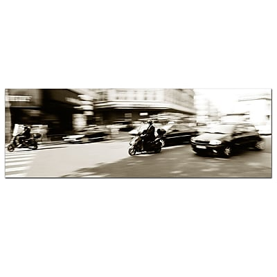 Trademark Fine Art Parisian Rush Hour by Preston-Ready to Hang Art 16x48 Inches