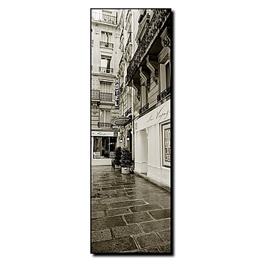 Trademark Fine Art Hotel in Paris by Preston-Ready to Hang Canvas Art 6x19 Inches