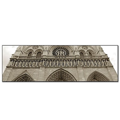 Trademark Fine Art Notre Dame' by Preston-Ready to Hang Art 10x32 Inches