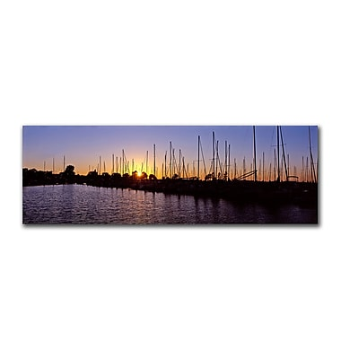 Trademark Fine Art Dock' by Preston-Ready to Hang Art 8x24 Inches