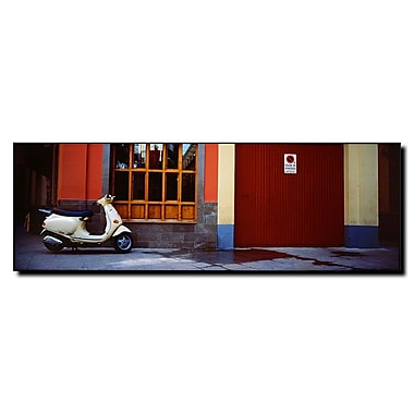 Trademark Fine Art Scooter in Spain by Preston-Ready to Hang Art 8x24 Inches