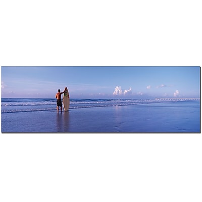 Trademark Fine Art Surfer by Preston-Ready to Hang Art 8x24 Inches