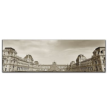 Trademark Fine Art Louvre' by Preston-Ready to Hang Art 10x32 Inches