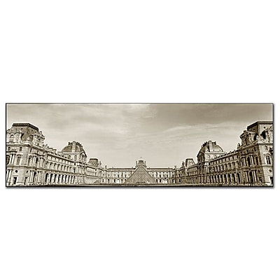 Trademark Fine Art Louvre by Preston-Gallery Wrapped Canvas Art 16x47 Inches