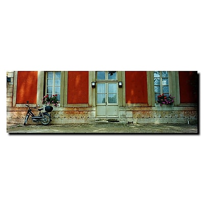Trademark Fine Art Scooter in Versailles by Preston-Gallery Wrapped 6x19 Inches