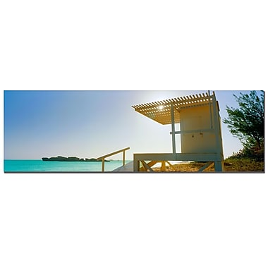 Trademark Fine Art Bermuda Lifeguard by Preston-Ready to Hang Art 10x32 Inches