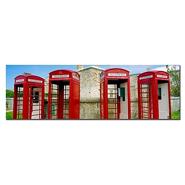 Trademark Fine Art Bermuda Telephone by Preston-Ready to Hang Art 10x32 Inches