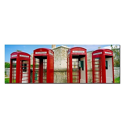 Trademark Fine Art Bermuda Telephone by Preston-Ready to Hang 16x48 Inches