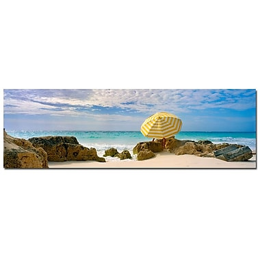 Trademark Fine Art Bermuda Umbrella by Preston-Ready to Hang Art