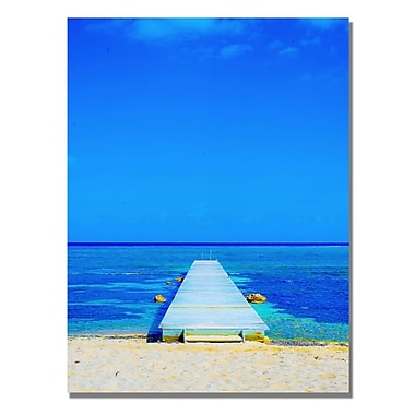 Trademark Fine Art Preston 'Beach-Pier' Canvas Art 35x47 Inches
