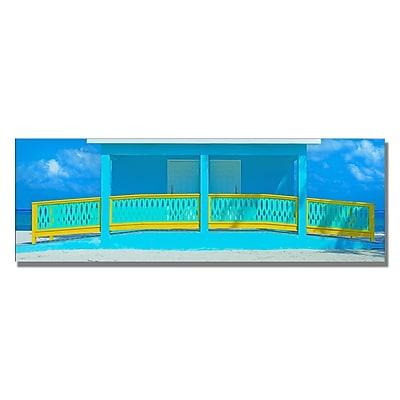 Trademark Fine Art Preston 'Cayman Beach House' Canvas Art 12x32 Inches