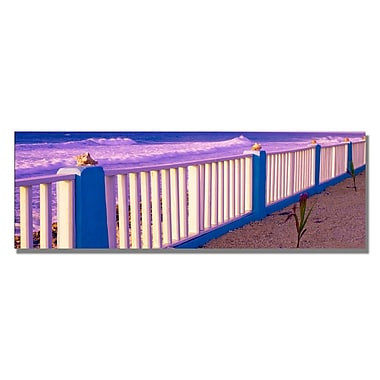 Trademark Fine Art Preston 'Cayman Fence' Canvas Art 16x47 Inches