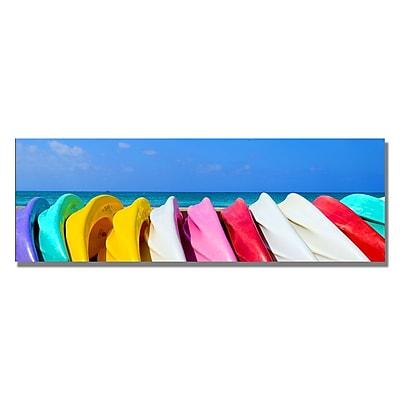 Trademark Fine Art Preston 'Cayman Rafts' Canvas Art. 12x32 Inches